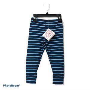 Hanna Andersson Blue Striped Leggings